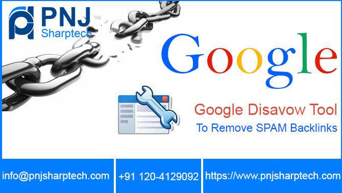 Google disavow tool PNJ Sharptech