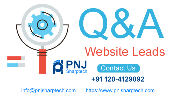 Q&A website for leads pnj sharptech