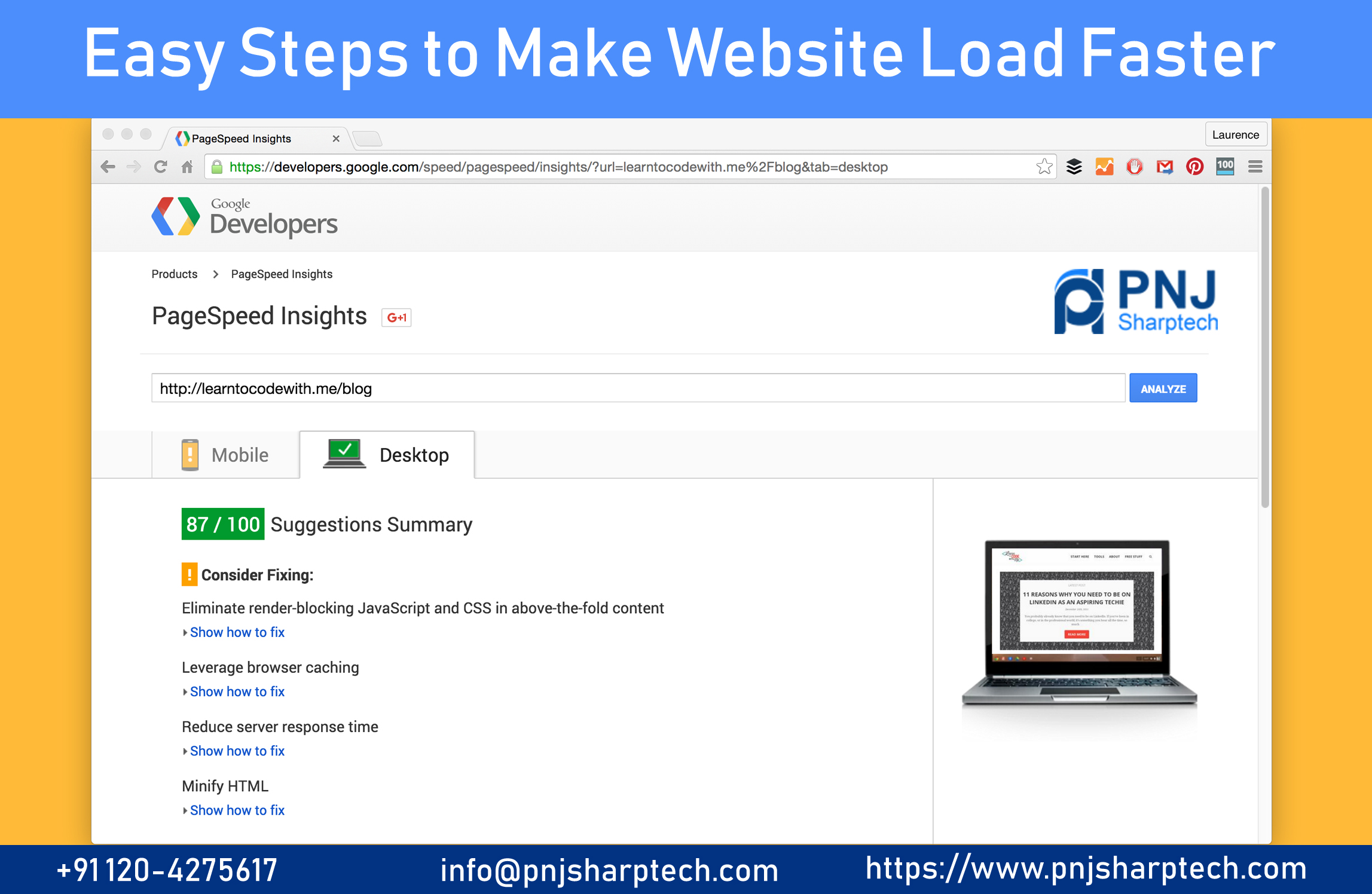 Make Website Load Faster