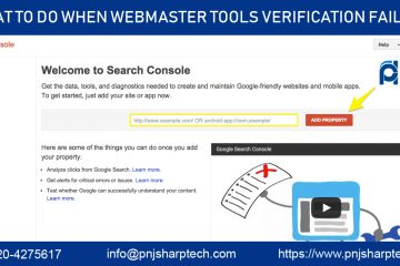 webmaster tools verification failed