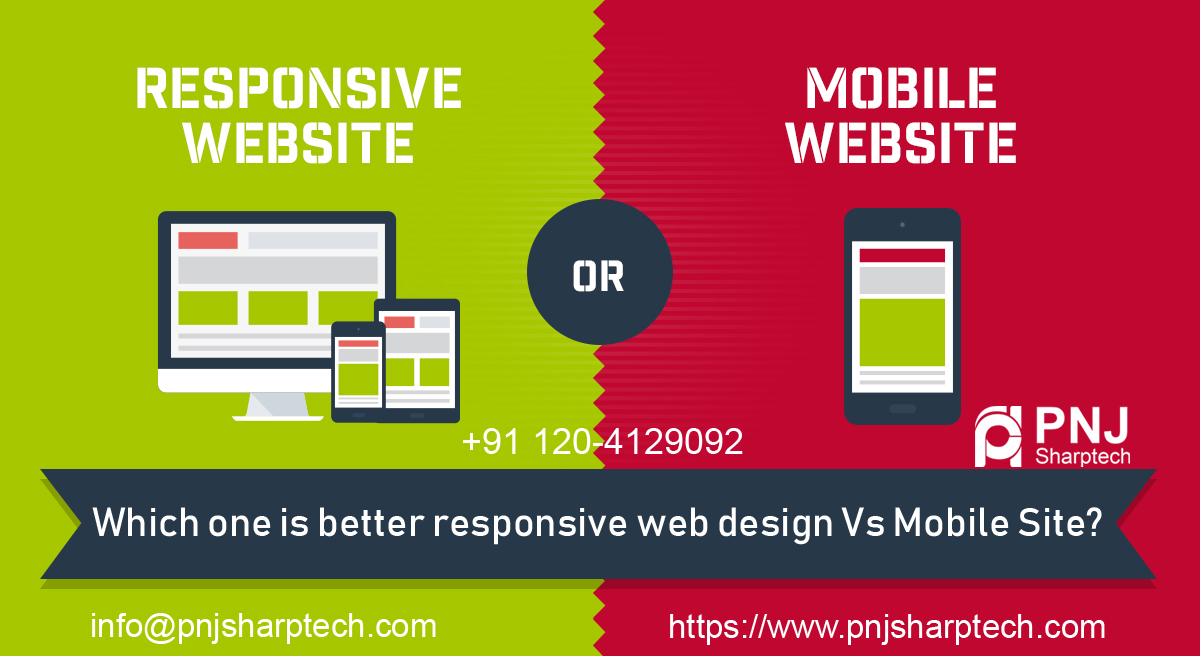 responsive web design Vs Mobile Site