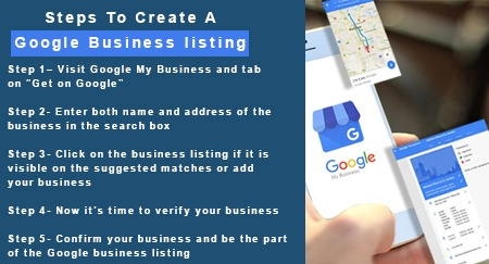 Steps to create a Google business listing