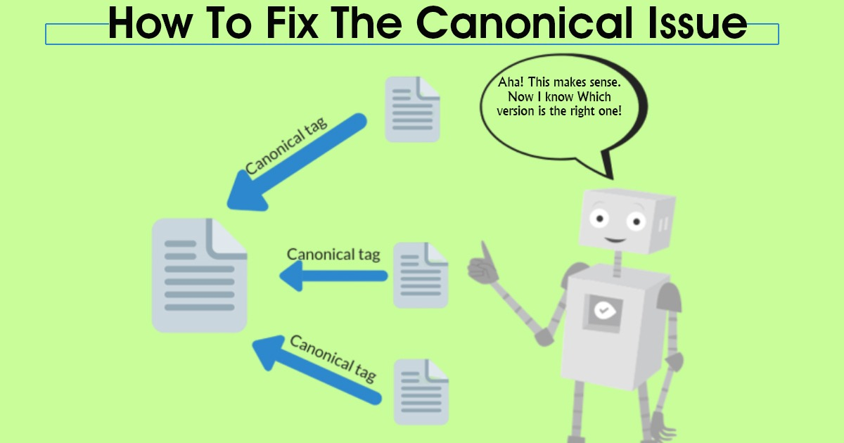 How To Fix The Canonical Issue