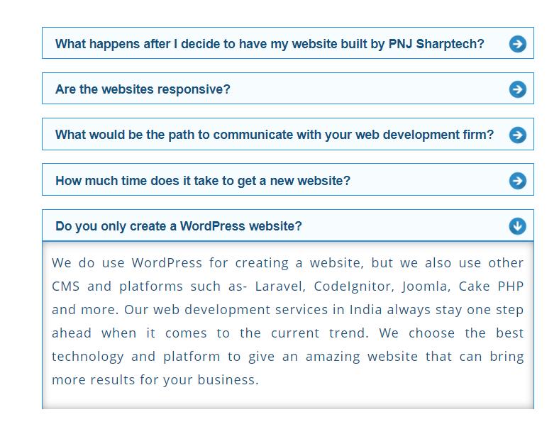 Include FAQ's