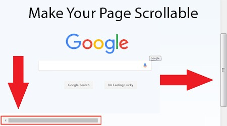 Make Your Page Scrollable