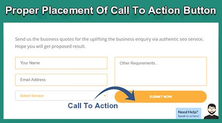 Proper Placement Of Call To Action Button