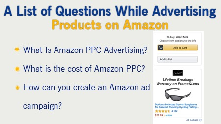 while advertising products on Amazon