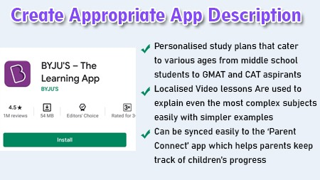 Create Appropriate App Description