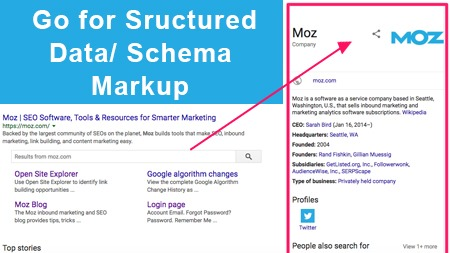 Go for structured data/ Schema Markup