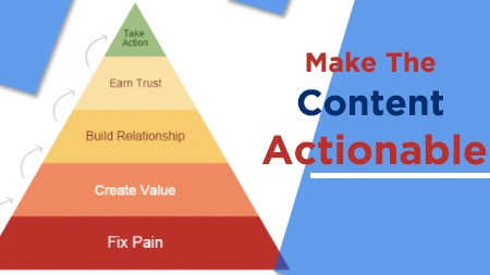 Make The Content Actionable