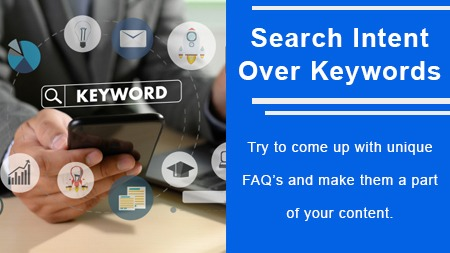 Search intent over keywords