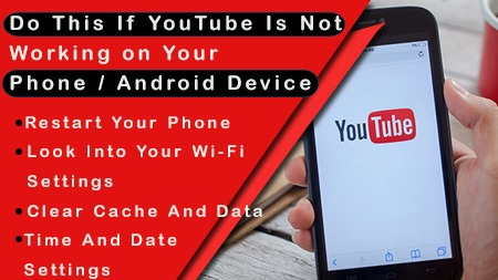 Do this if YouTube is not working on your phone/ android device