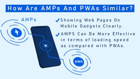 How are AMPs and PWAs similar