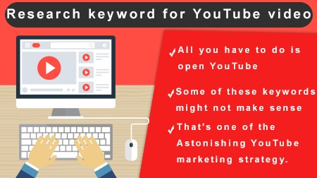 Research keyword for YouTube video
