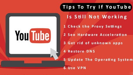 Tips to try if YouTube is still not working