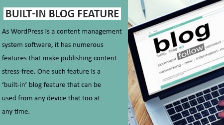 Built-in blog feature
