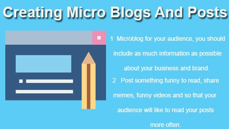 Creating Micro Blogs And Posts