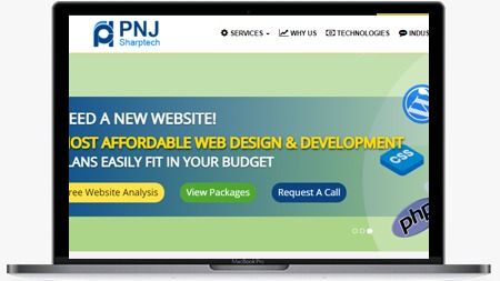 Give professional look at the website
