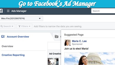 Go to Facebook's ad manager