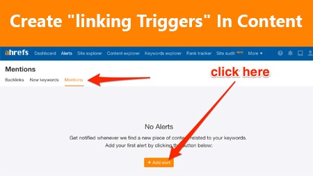 Create linking triggers in content