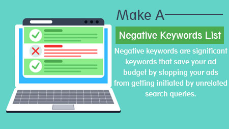 Make a negative keywords list
