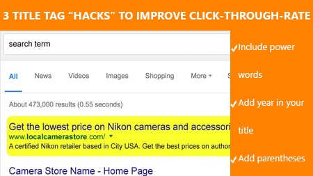 3 title tag Hacks to improve click-through-rate