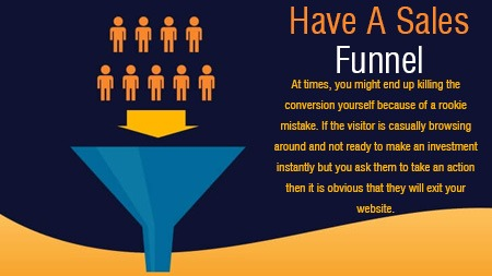 Have a sales funnel