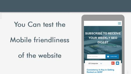 You can test the mobile friendliness of the website