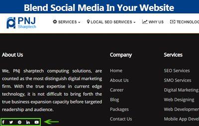 Blend Social Media In Your Website