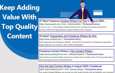 Keep Adding Value With Top Quality Content