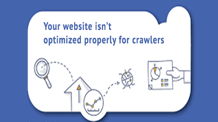 Your website isn't optimized properly for crawlers