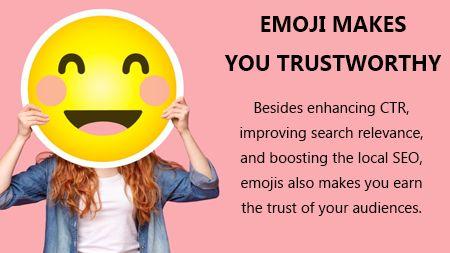 Emoji makes you trustworthy