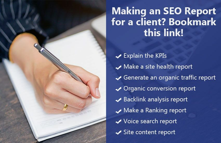 Making an SEO Report for a client