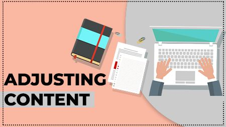Adjusting content