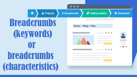 Breadcrumbs (keywords) or breadcrumbs (characteristics)