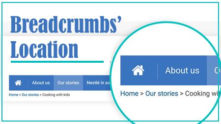 Breadcrumbs' Location