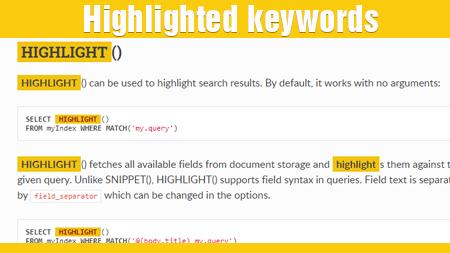 Highlighted Keywords