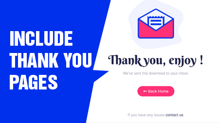 Include Thank You pages